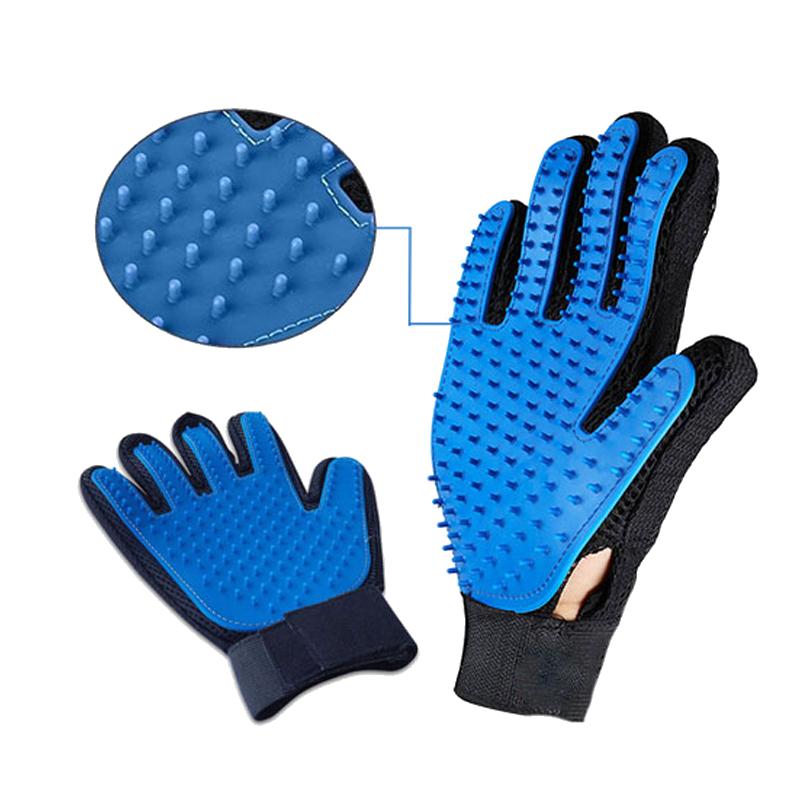 عکس جزییات محصول دستکش ماساژ حیوانات تروتاچ مدل Desheding Glove