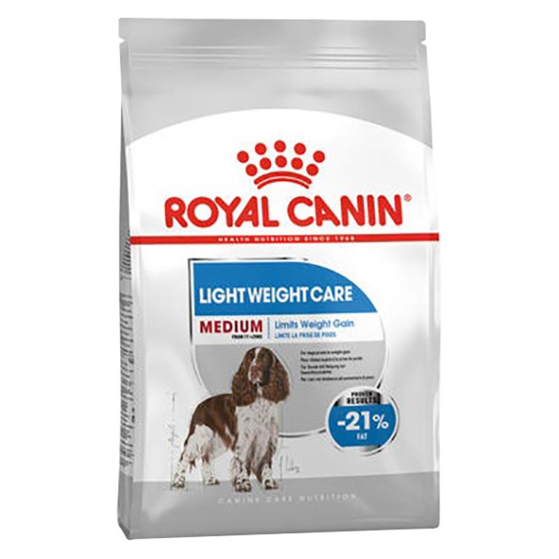 عکس بسته بندی غذای خشک سگ رویال کنین مدل Medium Light Weight Care وزن 3 کیلوگرم
