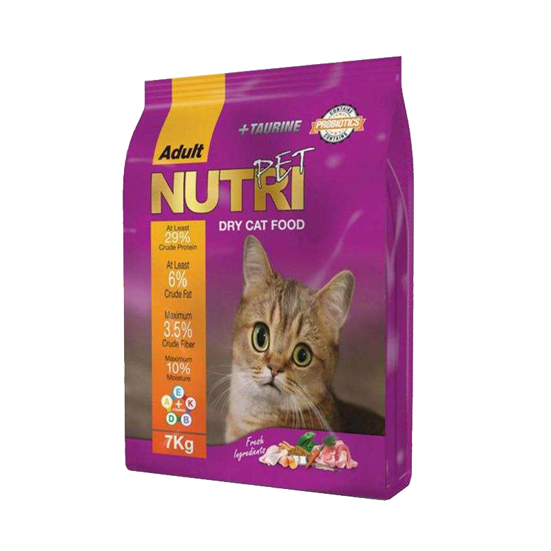 عکس بسته بندی غذای خشک گربه نوتری مدل Adult وزن 7 کیلوگرم