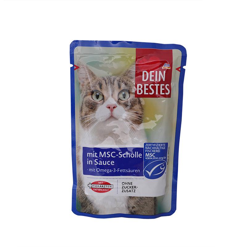 عکس بسته بندیپوچ گربه دین بستس مدل Plaque Fish وزن 100 گرم