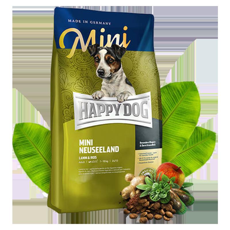 عکس تبلیغات غذای خشک سوپر پرمیوم سگ هپی داگ مدل Mini Neuseeland وزن 8 کیلوگرم