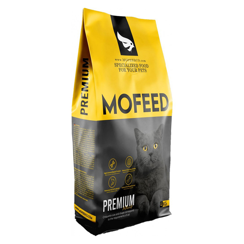 عکس بسته بندی غذای خشک گربه مفید مدل Adult Premium وزن 4 کیلوگرم