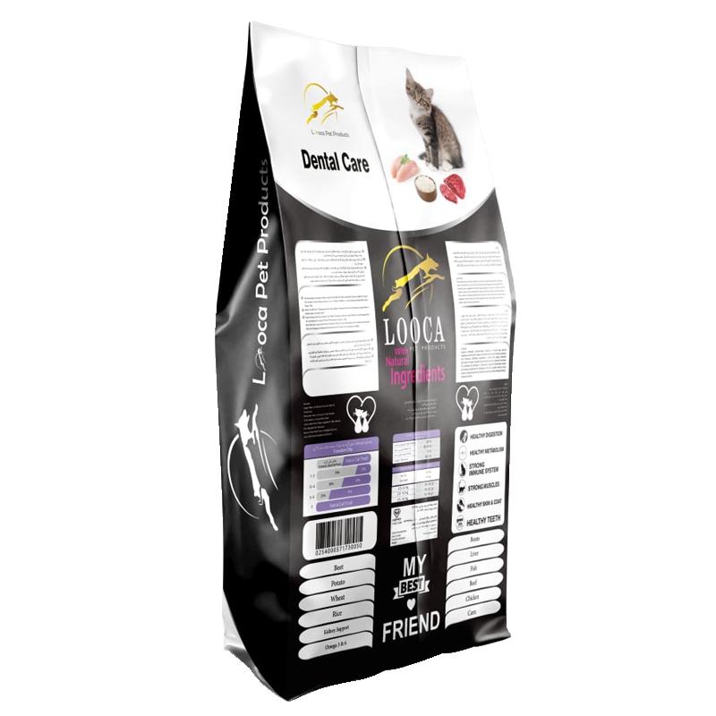 عکس پشت بسته بندی غذای خشک گربه لوکا مدل Dental Care وزن 2 کیلوگرم