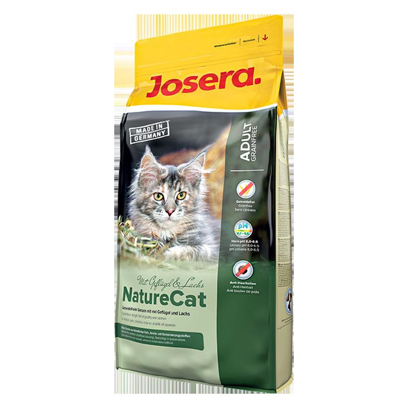 عکس بسته بندی غذای خشک گربه جوسرا مدل Nature Cat وزن 400 گرم