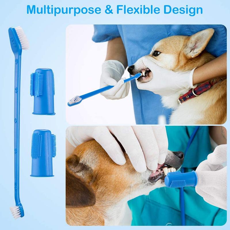 عکس نحوه ی مصرف ست مسواک و خمیر دندان سگ کوزرو مدل Dental Care