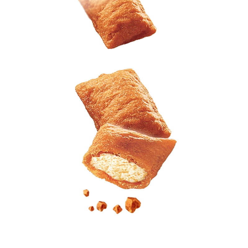 عکس دانه تشویقی گربه ویسکاس مدل Temptation Chicken & Cheese وزن 60 گرم