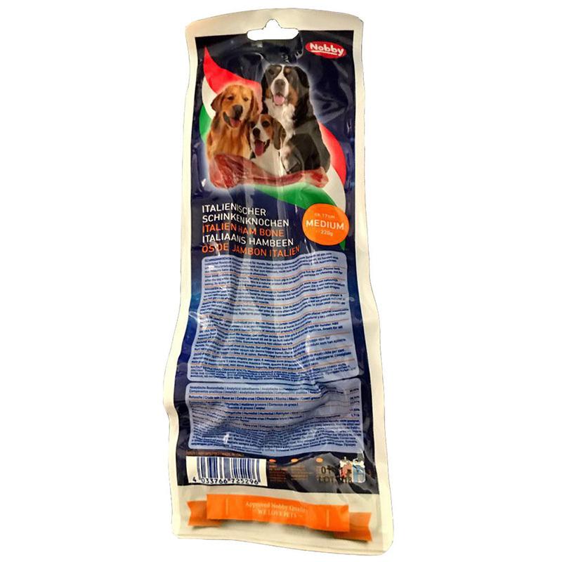 عکس پشت بسته بندی تشویقی سگ نوبی کد 011 وزن 400 گرم
