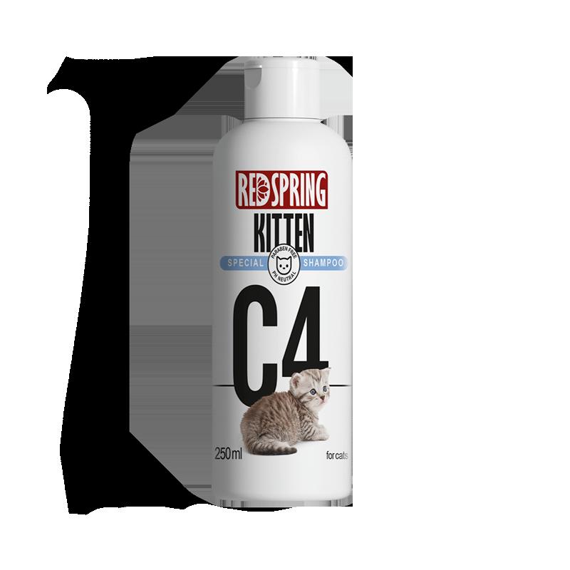 شامپو گربه رداسپرینگ مدل C4 مخصوص بچه گربه حجم 250 میلی لیتر