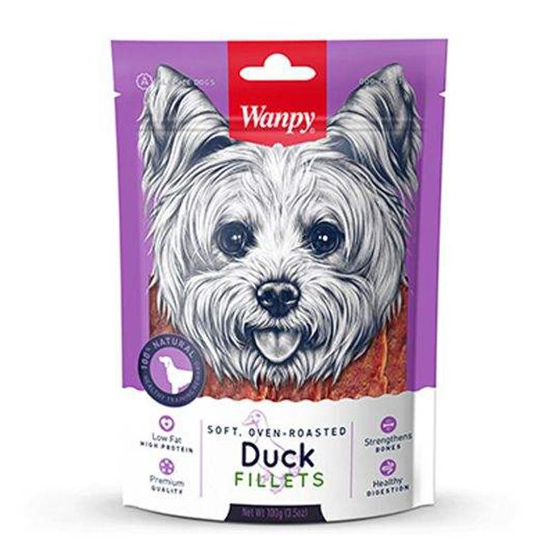 عکس بسته بندی تشویقی سگ ونپی مدل Duck Filets وزن 100 گرم