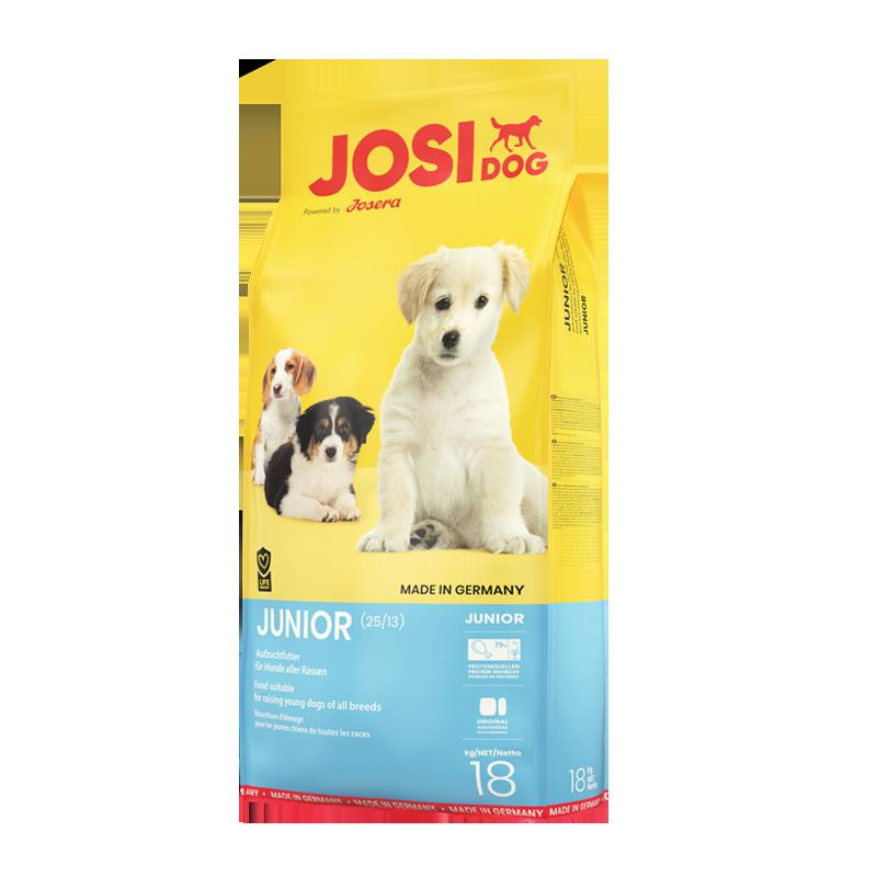 عکس بسته بندی غذای خشک سگ جوسرا مدل Jusidog Junior وزن 18 کیلوگرم