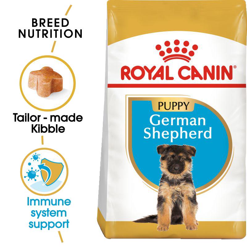 عکس جزییات غذای خشک توله سگ رویال کنین مدل German Shepherd Puppy وزن 3 کیلوگرم