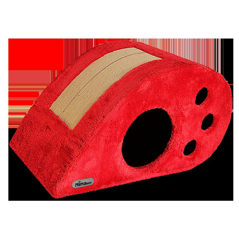 لانه گربه نیناپت مدل بادامی رنگ قرمز