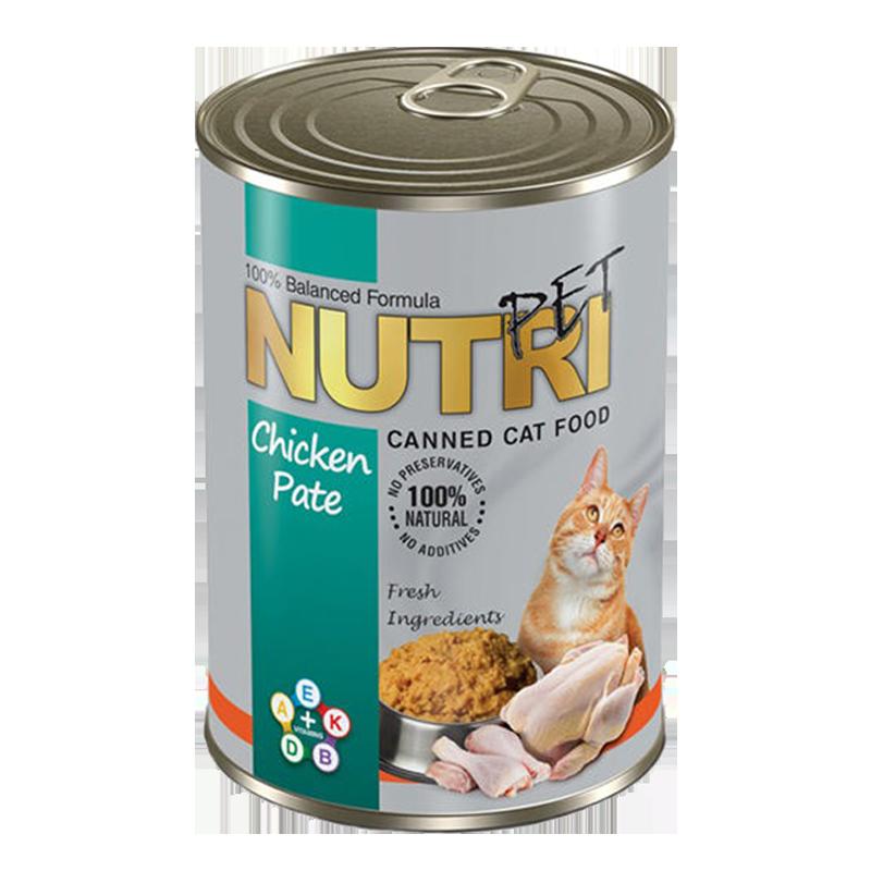 عکس بسته بندی کنسرو غذای گربه نوتری مدل Chicken وزن 425 گرم