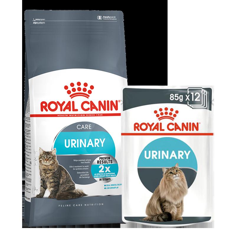عکس بسته بندی غذای خشک و تر بسته غذای خشک و تر گربه رویال کنین مدل Urinary Care