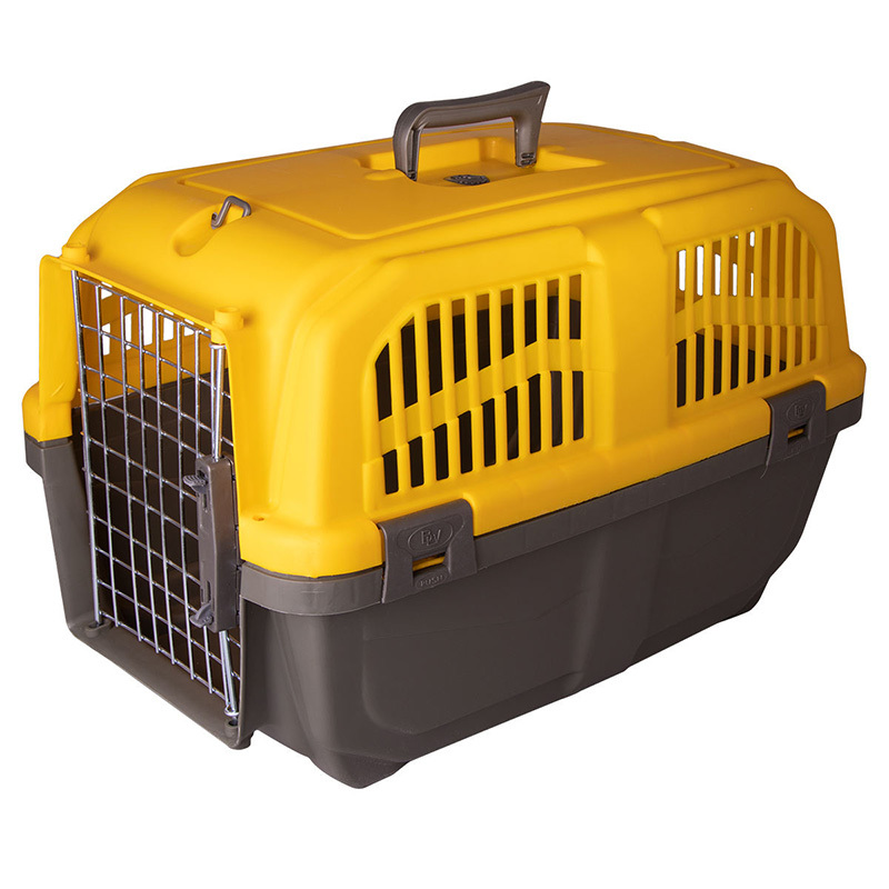 عکس باکس حمل سگ و گربه هپی پت مدل پانیتو رنگ زرد