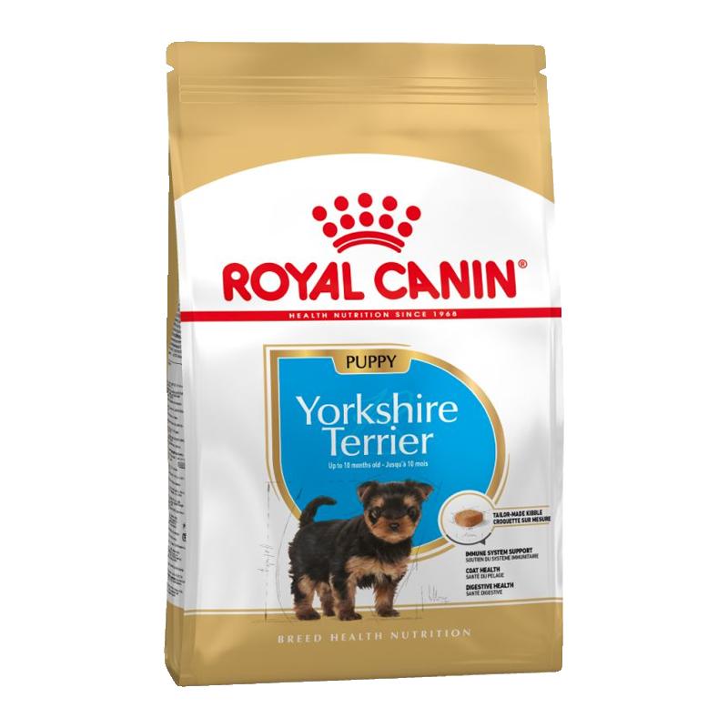 عکس بسته بندی غذای خشک سگ رویال کنین مدل Puppy Yorkshire Terrier وزن 1.5 کیلوگرم