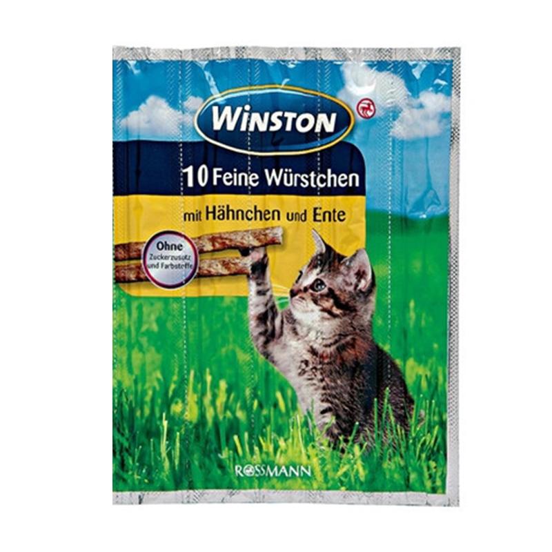 عکس بسته بندی اسنک تشویقی گربه وینستون مدل Chicken & Duck بسته 5 عددی