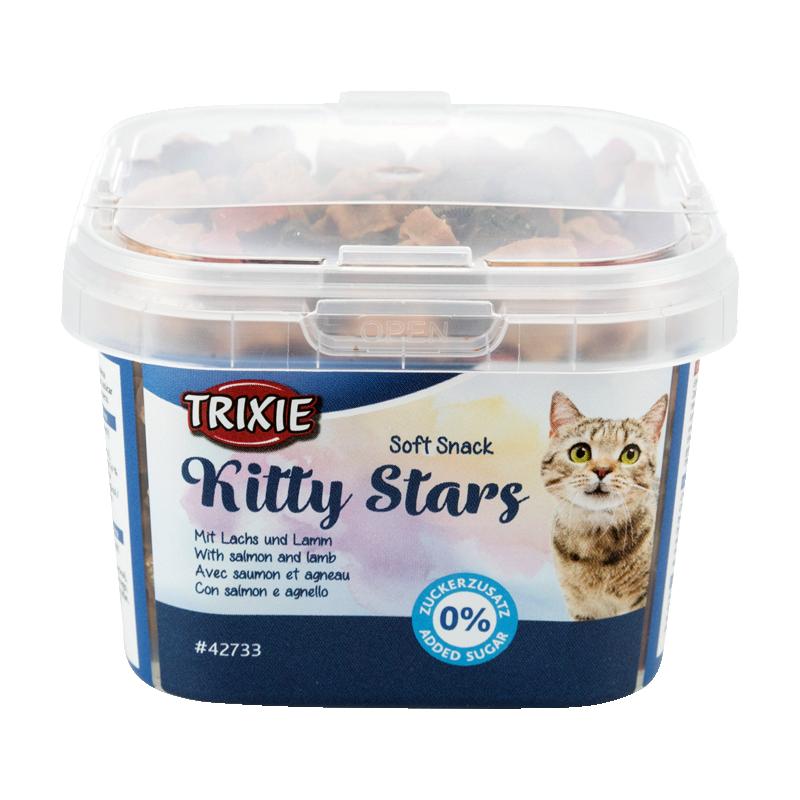 عکس بسته بندی تشویقی نرم گربه تریکسی مدل Kitty Stars وزن 140 گرم