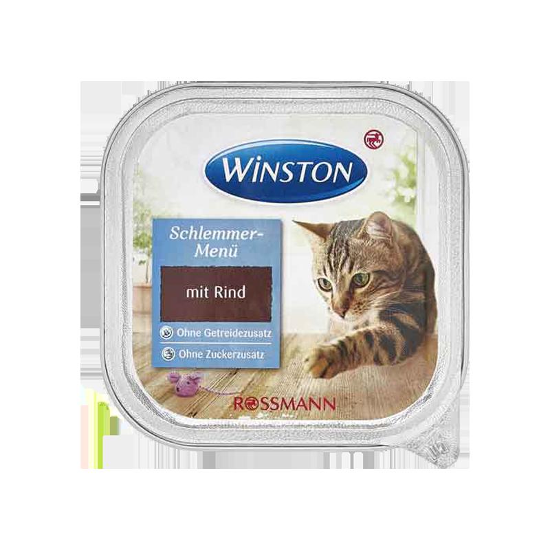 غذای کاسه ای گربه وینستون مدل beef وزن 100 گرم