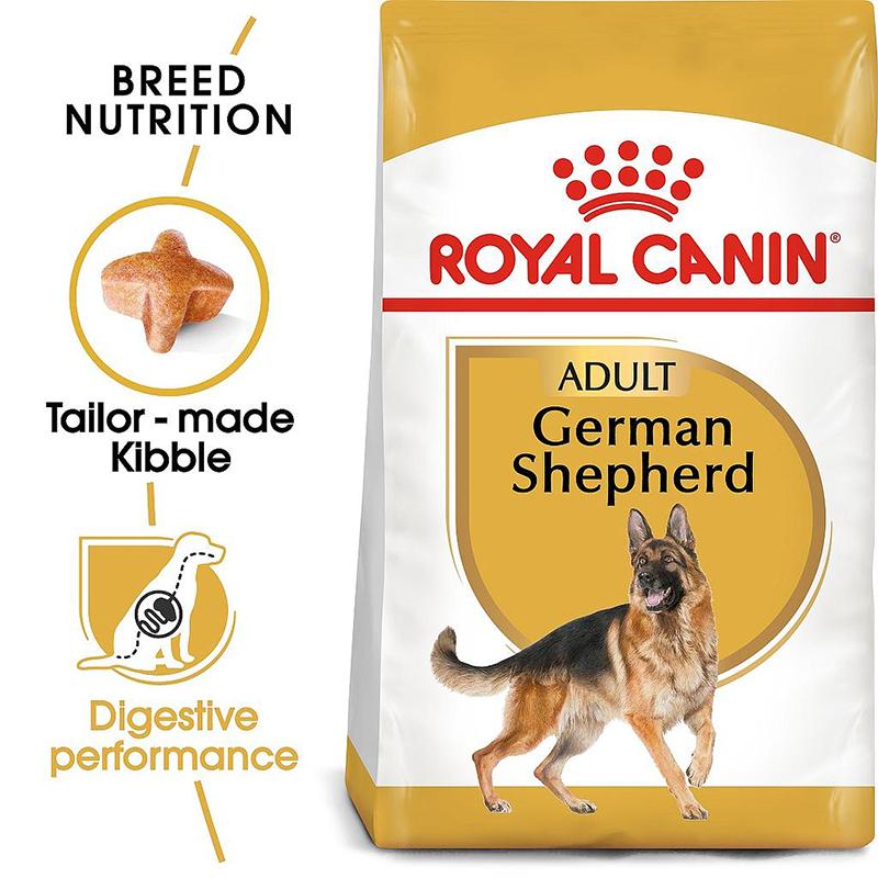 عکس جزییات غذای خشک سگ رویال کنین مدل German Shepherd وزن 11 کیلوگرم