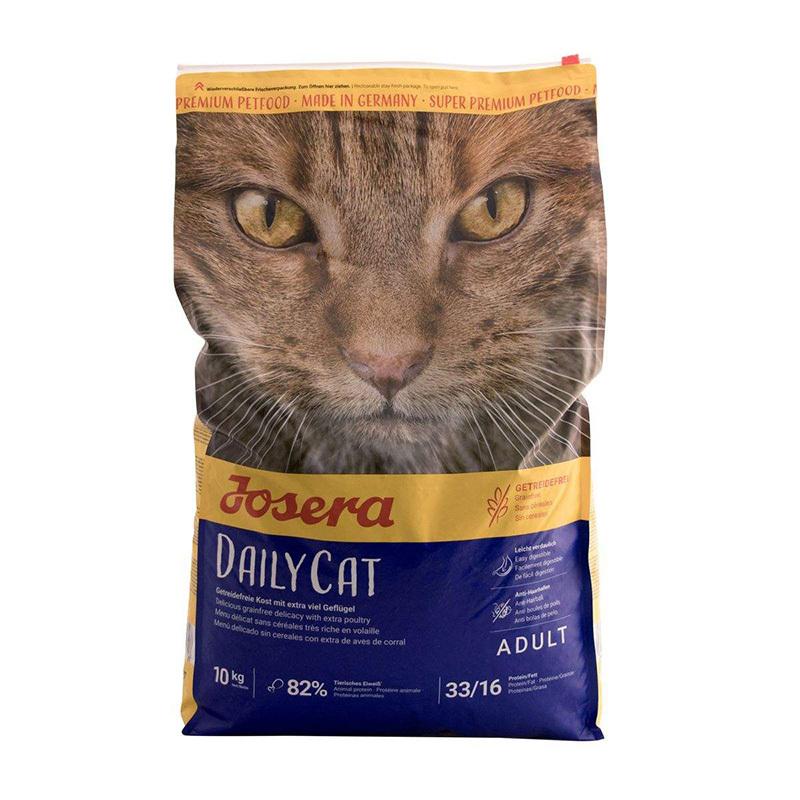 عکس روی بسته بندی غذای خشک گربه جوسرا مدل Dailycat وزن 1 کیلوگرم