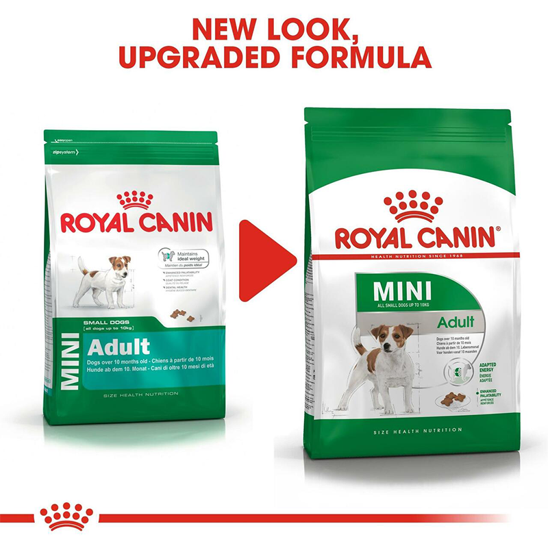 عکس تغییر بسته بندی بسته غذای خشک و تر سگ رویال کنین مدل Mini Adult