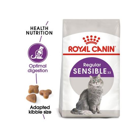 عکس توضیحات غذای خشک گربه رویال کنین مدل Sensible وزن 2 کیلوگرم