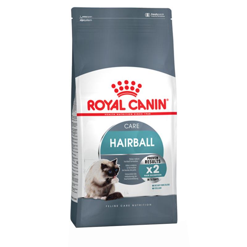 عکس بسته بندی غذای خشک گربه رویال کنین مدل HairBall Care وزن 10 کیلوگرم