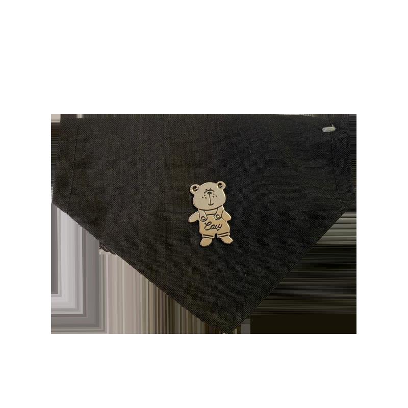 قلاده و دستمال گردن گربه نیناپت مدل طرح دار مشکی
