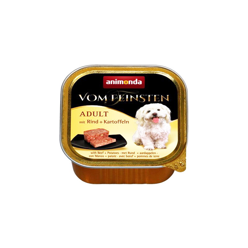 غذای کاسه ای سگ با طعم گوشت و سیب زمینی آنیموندا Animonda Adult Beef & Potato وزن 150 گرم