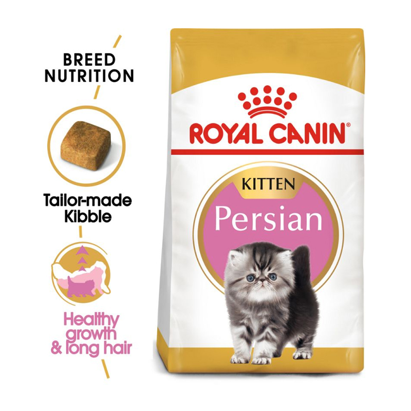 عکس جزییات بسته بندی غذای خشک گربه رویال کنین مدل Kitten Persian وزن 2 کیلوگرم