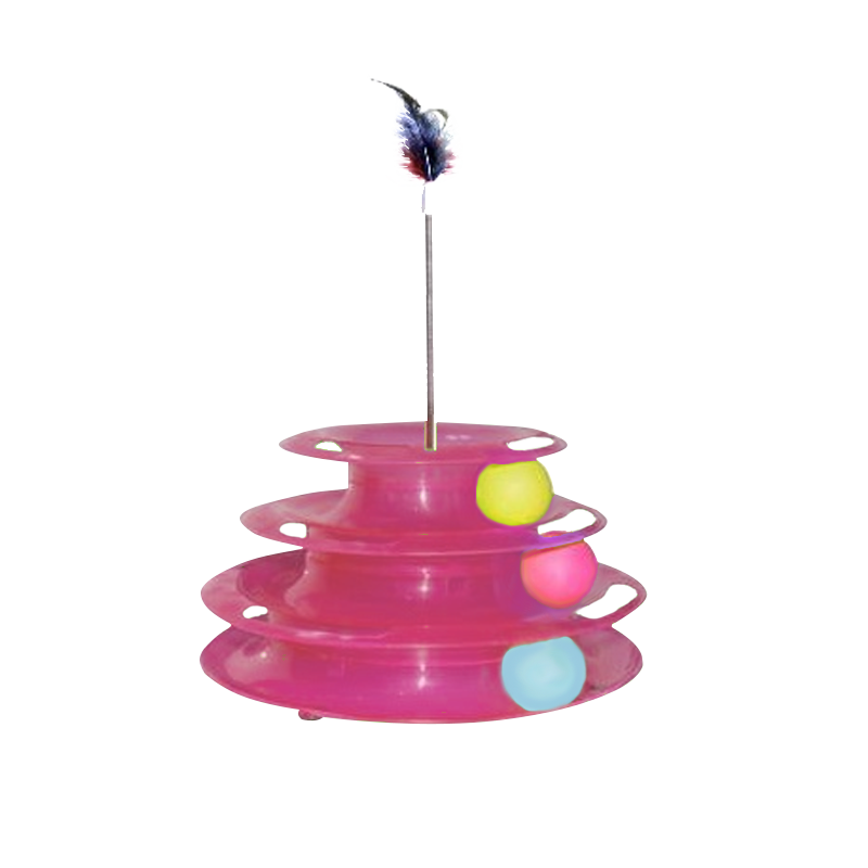 اسباب بازی گربه هپی پت مدل یونیورس رنگ سرخابی