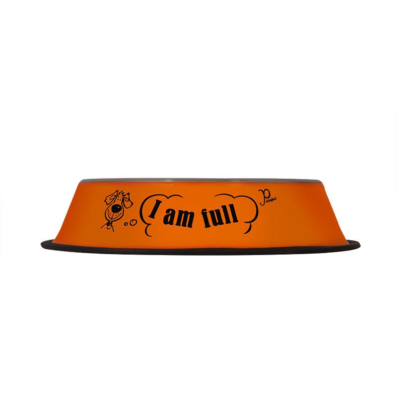 عکس تبلیغاتی ظرف غذای حیوانات قطر 21 سانتی متر رنگ نارنجی