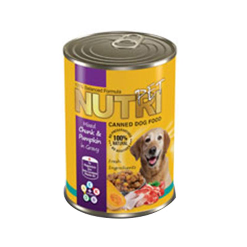 عکس بسته بندی کنسرو غذای سگ نوتری مدل Chunk & Pumpkin وزن 425 گرم