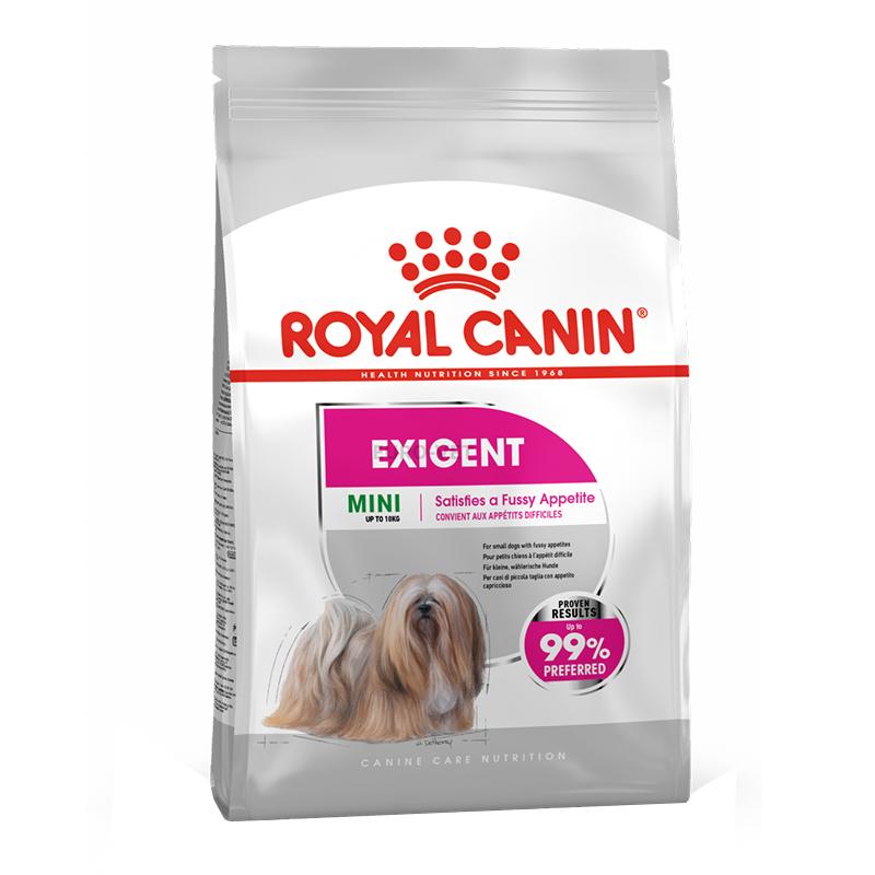 عکس بسته بندی غذای خشک سگ رویال کنین مدل Mini Exigent وزن 1 کیلوگرم