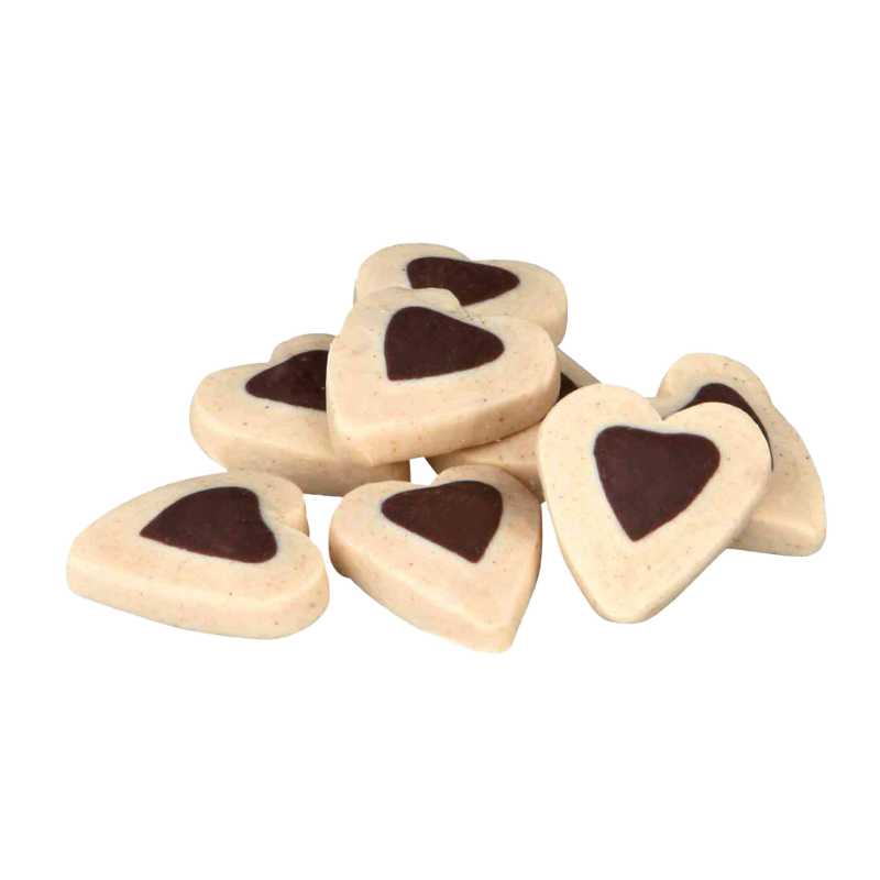 عکس محصول تشویقی سگ تریکسی مدل Happy Hearts با طعم بره وزن 500 گرم