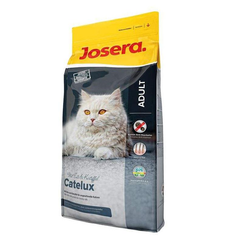 عکس بسته بندی غذای خشک گربه جوسرا مدل ADULT CATELUX وزن 10 کیلوگرم