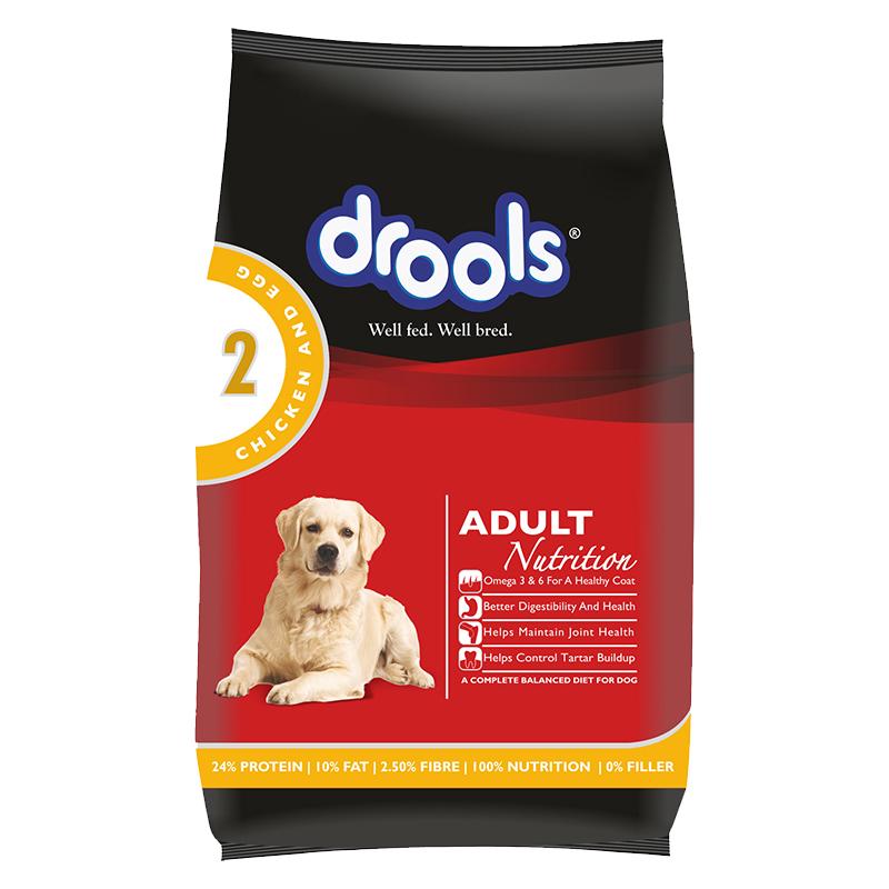 عکس بسته بندی غذای خشک سگ درولز مدل Adult Chicken & Egg وزن 3 کیلوگرم