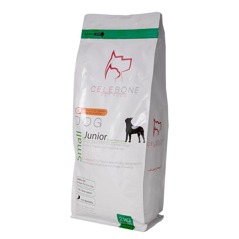 عکس جزییات بسته بندی غذای خشک سگ سلبن مدل Small Junior وزن 2 کیلوگرم