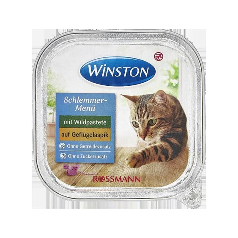 غذای کاسه ای گربه گوشت شکار و مرغ وینستون