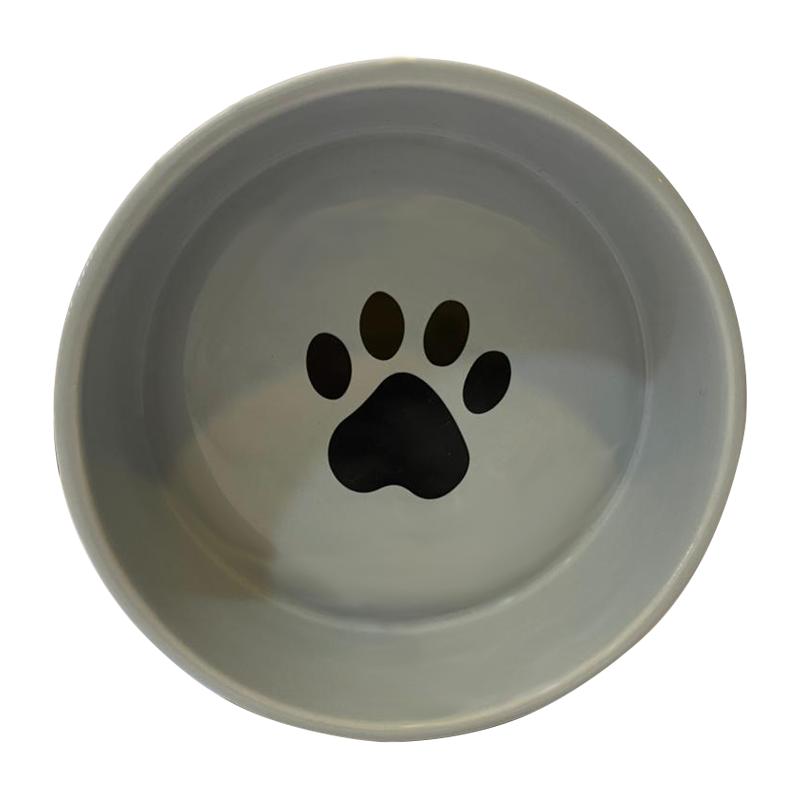 عکس از بالا ظرف آب و غذای حیوانات کوکو پت طرح راهراه سایز کوچک