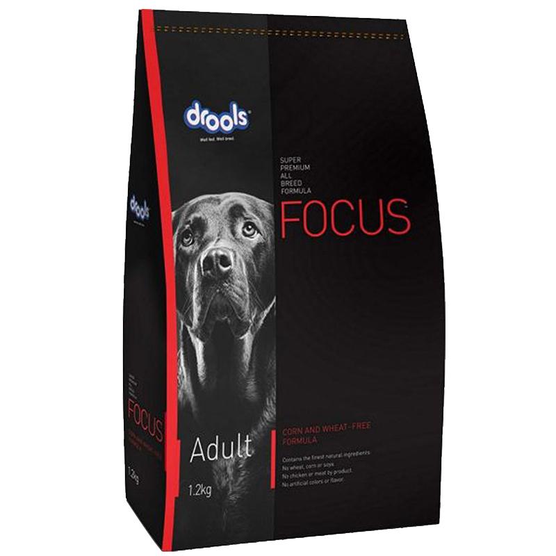 عکسبسته بندی تبلیغاتی غذای خشک سگ درولز مدل Focus Adult وزن 1.2 کیلوگرم