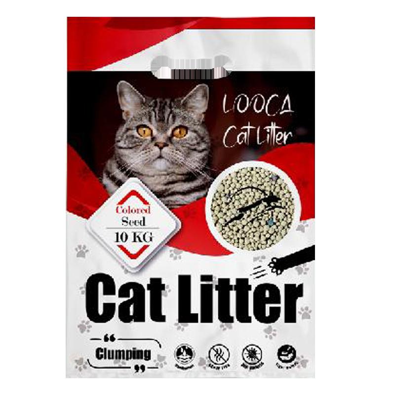 عکس بسته بندی خاک گربه لوکا مدل Granola Colored Seeds وزن 10 کیلوگرم