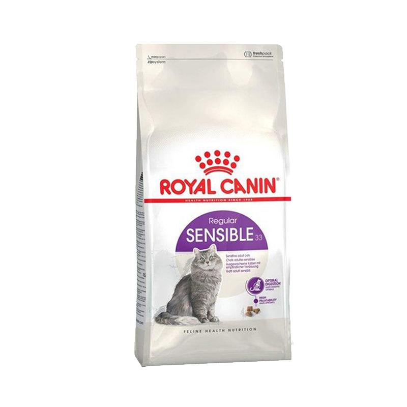 عکس بسته بندی غذای خشک گربه رویال کنین مدل Sensible وزن 2 کیلوگرم