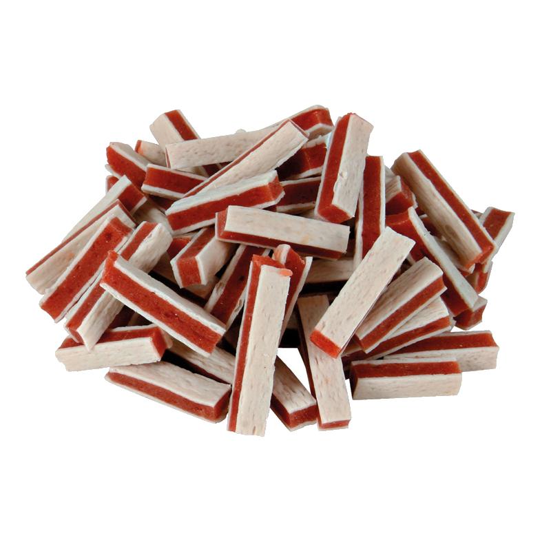 عکس محصول تشویقی سگ تریکسی مدل Fish Chicken Stripes با طعم مرغ و ماهی وزن 75 گرم