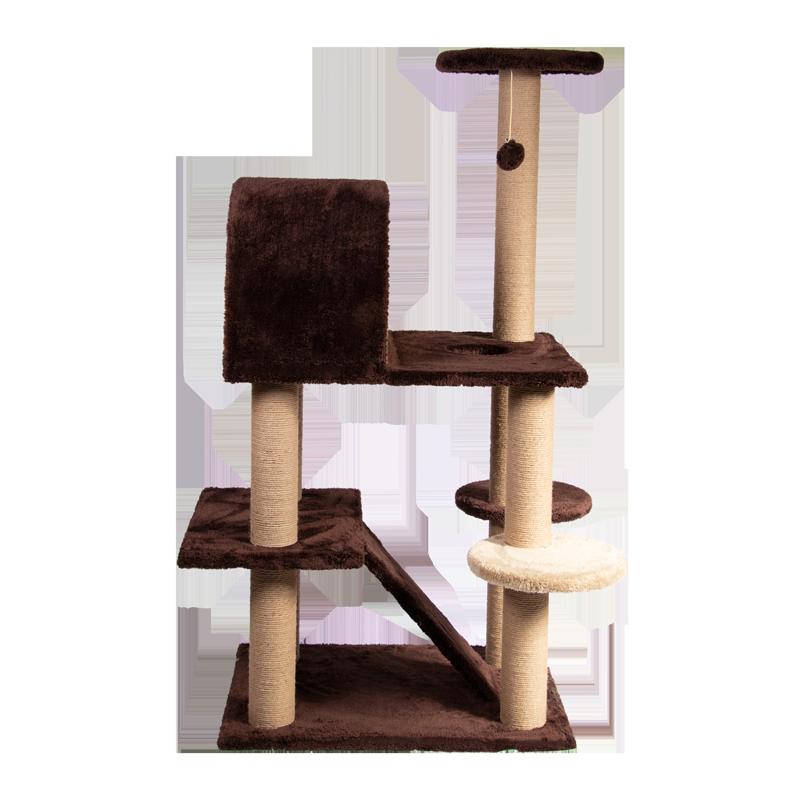 عکس از کنار اسکرچر ، لانه ، جای خواب و درخت کدیپک مدل توسکا رنگ قهوه ای