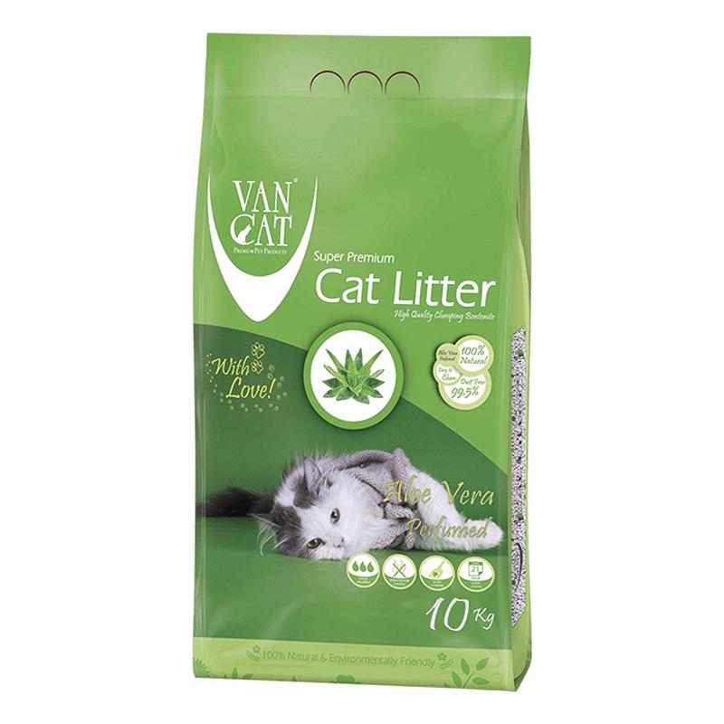 عکس بسته بندی خاک گربه ون کت مدل Aloe Vera وزن 10 کیلوگرم