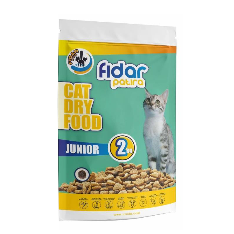 عکس بسته بندی غذای خشک گربه فیدار مدل Junior وزن 2 کیلوگرم
