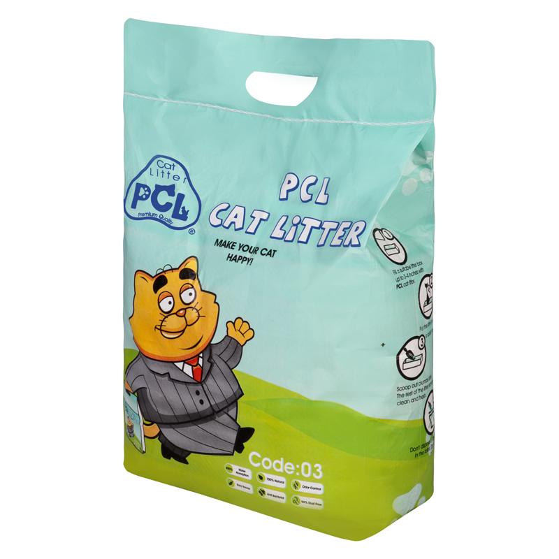 عکسجزییات بسته بندی خاک گربه پی سی ال مدل PCL03 وزن 10 کیلوگرم
