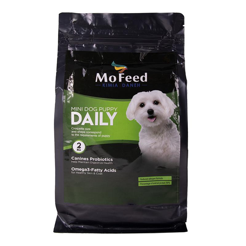 عکس بسته بندیغذای خشک سگ مفید مدل Mini Dog Daily Puppy وزن 2 کیلوگرم